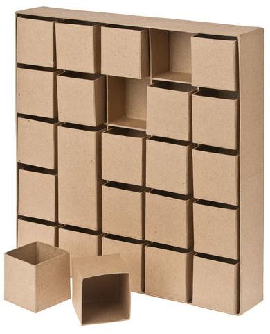 calendrier de l 39 avent en carton. Black Bedroom Furniture Sets. Home Design Ideas