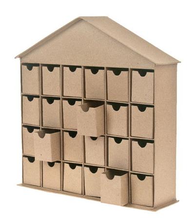 calendrier de l 39 avent maison en carton. Black Bedroom Furniture Sets. Home Design Ideas