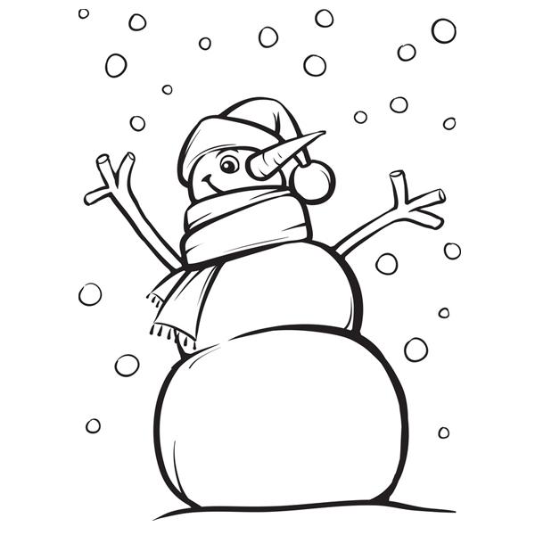 Coloriages de no l - Bonhomme de neige coloriage ...