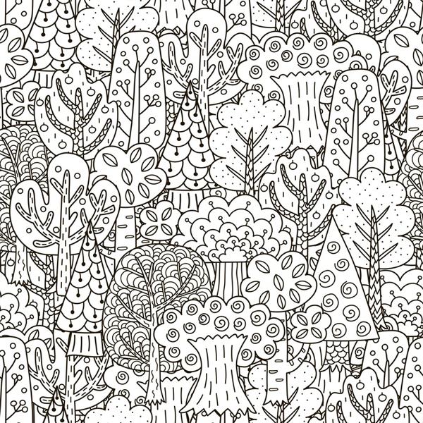 Mandala Coloriage Forêt