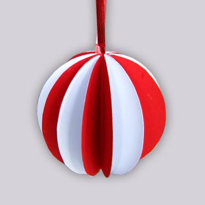 Boules de no l en papier - Boule de noel a fabriquer en papier ...