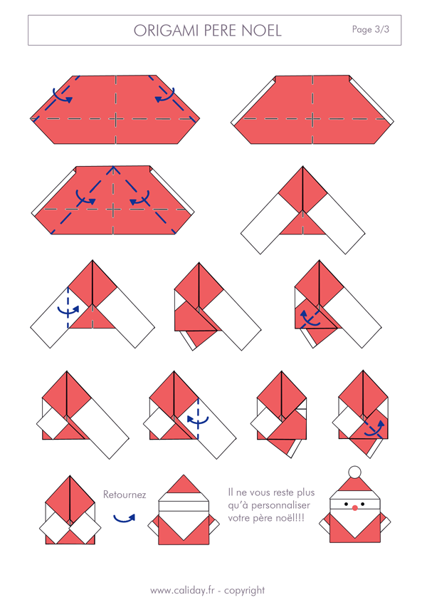 Origami noel instructions pliage accueil design et mobilier for Pliage serviette noel facile