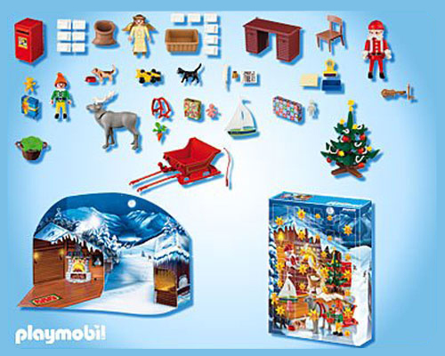 calendrier de l 39 avent playmobil atelier du p re no l. Black Bedroom Furniture Sets. Home Design Ideas