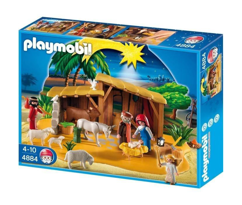 Calendrier L Avent Playmobil.Calendrier De L Avent Playmobil Grande Creche De Noel