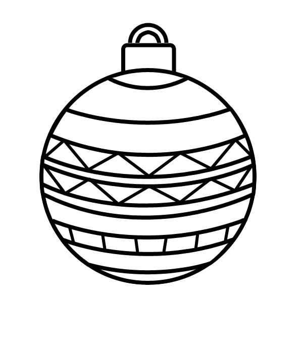 Dessin Boule De Noel.Coloriage En Ligne Boule De Noël