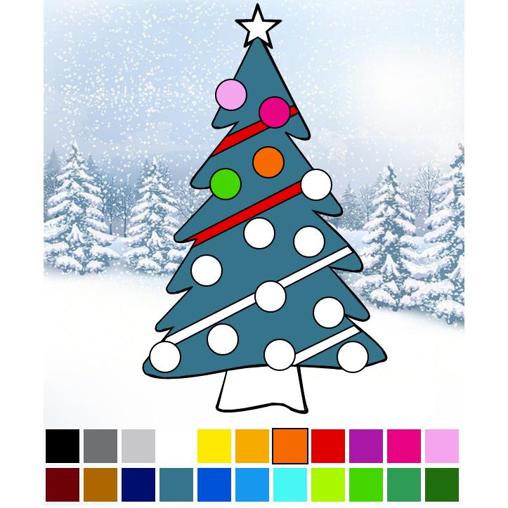 Coloriage en ligne sapin de no l - Coloriage noel en ligne ...