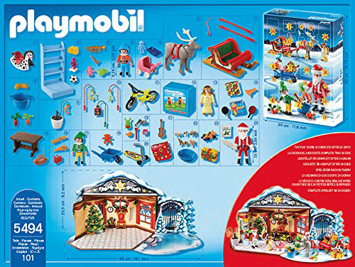 calendrier de l 39 avent playmobil atelier de jouets du p re no l. Black Bedroom Furniture Sets. Home Design Ideas